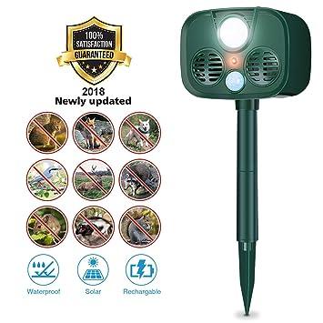 Tvird Repelente de Animales, Ultrasónico, Energía Solar (Batería Integrada), IP55 a
