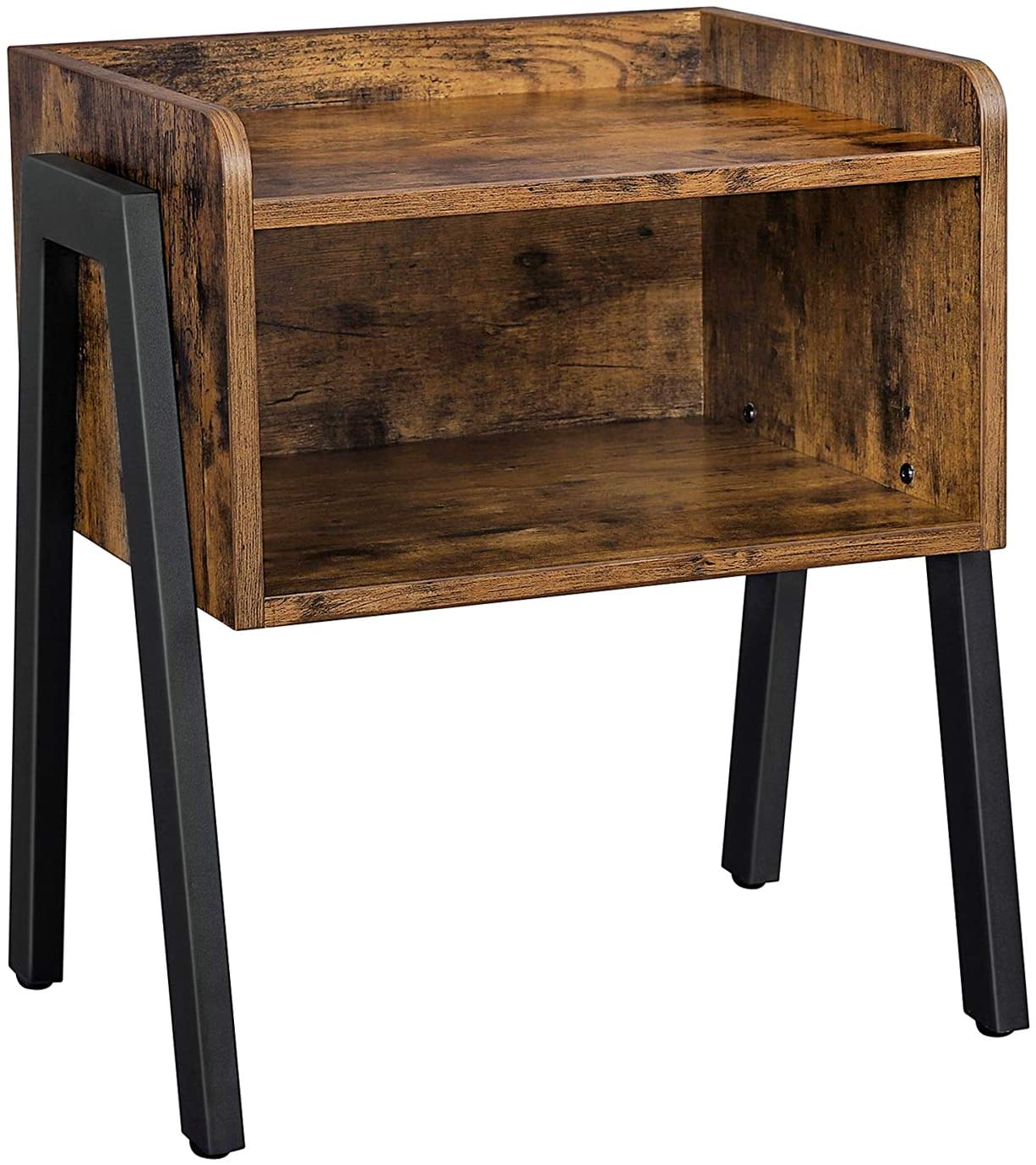 VASAGLE Industrial Nightstand, Stackable End Table