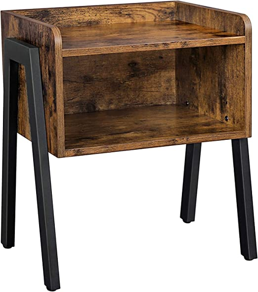Amazon Com Vasagle Industrial Nightstand Stackable End Table