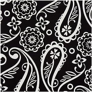 Party! Black & White Paisley Paper Cocktail Beverage Napkins, 24-ct