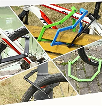 BEELOO Cerradura De Bicicleta Antirrobo Cerradura De Bicicleta De MontañA Cerradura Plegable Cizalla Anti-HidráUlica