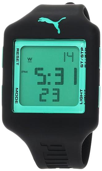 Puma PU910791012 activa de la Hombres Negro PU Cuarzo Reloj con Digital esfera: Puma: Amazon.es: Relojes