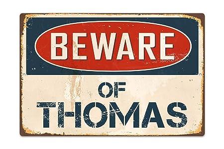 Betrothales Cuidado con Thomas Letrero De Metal Retro ...