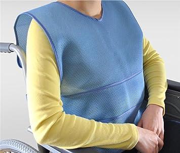 Paciente Respirable Restricción de chaleco - Asiento de silla de ruedas Seguridad Abrazadera de caballo -