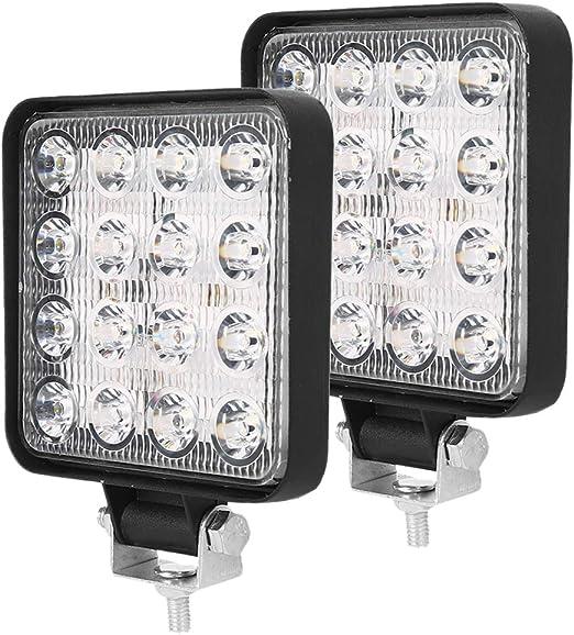 2 PCS Faros de Trabajo LED Tractor 12V//24V Luz de Trabajo Cuadrados Disipaci/ón de Calor Impermeable para SUV//UTV//ATV Excavadora Cami/ón Coche