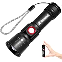 Bigcheck LED Mini Flashlight with 4 Modes 4X Zoomable (Black)