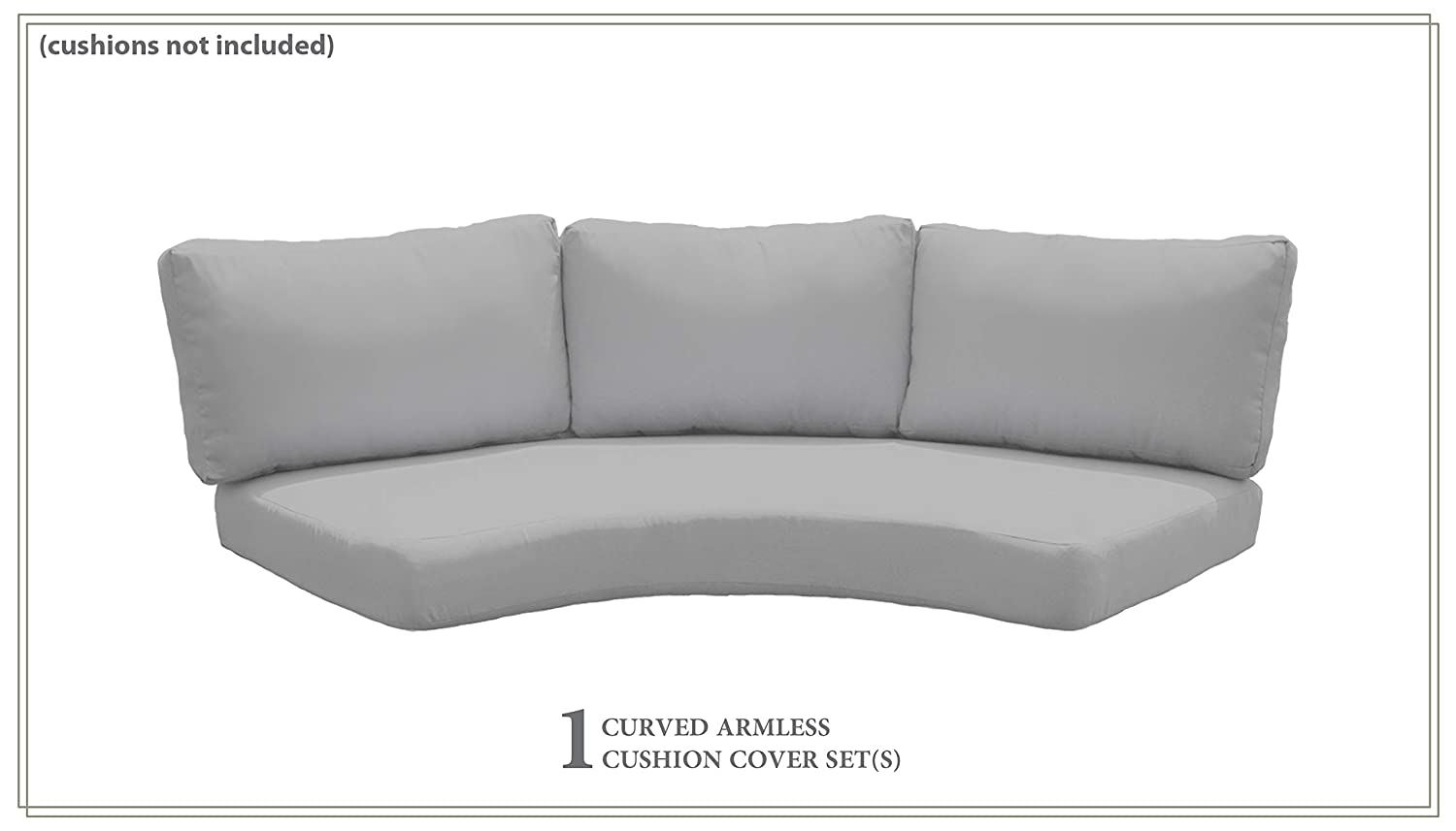 TK Classics Covers for High-Back Curved Armless Sofa Cushions 6 inches Thick in Tangerine