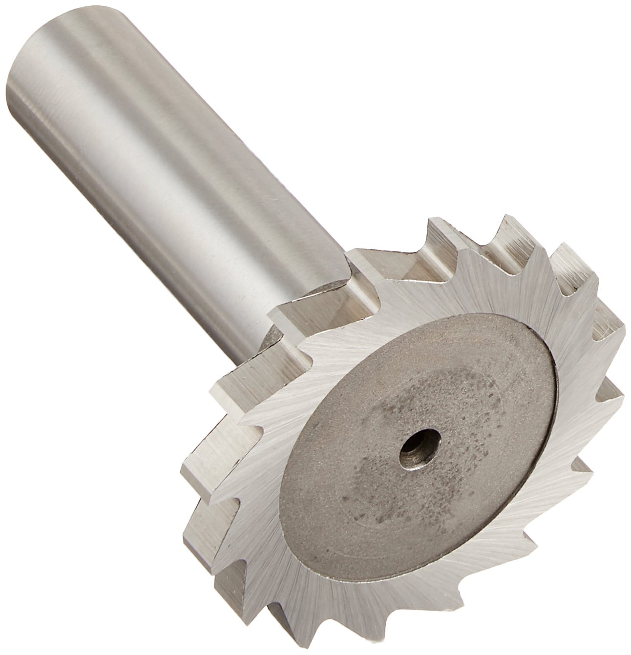 KEO 69311 High-Speed Steel Narrow Width Keyseat Cutter, Uncoated (Bright) Finish, Round Shank, 1/2'' Shank Diameter, 1-1/2'' Cutter Diameter, 16 Straight Teeth, 11/64'' Face Width