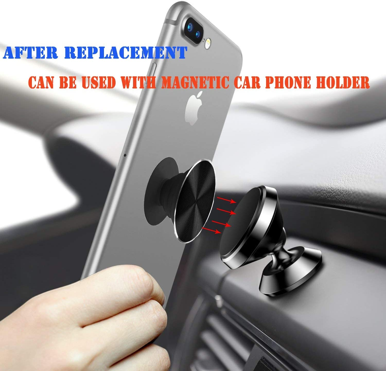 Marble Swappable Metal Covers for Collapsible Phone Grip /& Stand Replacement Pop Top Covers for Get a Different Design On Your Pop Phone Grip Can Work with Magnetic Mount Car Phone Holder