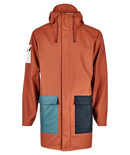 Rains Camp Jacket Small/Medium Blue Rust Pacific Moon: Amazon.co ...