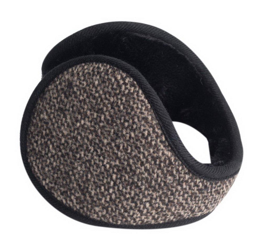 Mens Winter Ear Warmers Soft Plush Portable Ear Covers Light Coffee Snow Pattern GM-CLO2475021011-ZARA02389