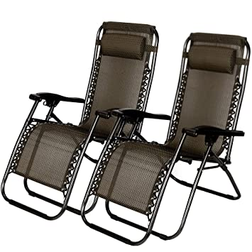 Amazon.com: ZotoyaShop - 2 sillas reclinables para patio o ...