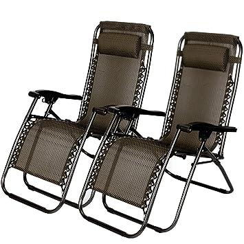 Amazon.com: ZotoyaShop - 2 sillas reclinables para patio o ...