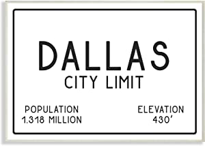 Stupell Industries Dallas City Limit Wall Plaque Art, Proudly Made in USA