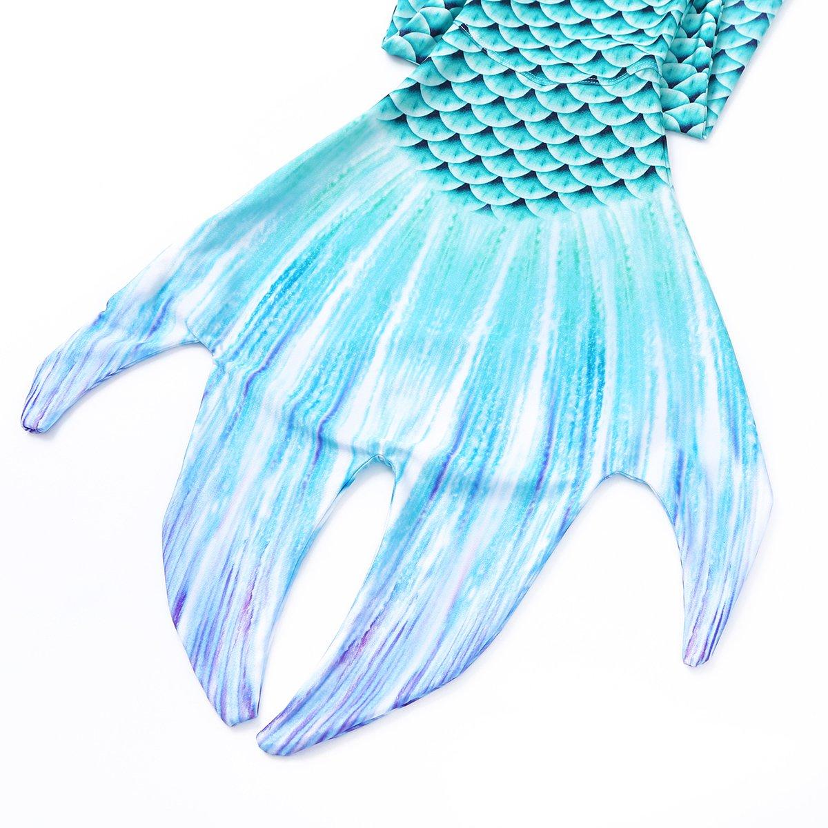 CHICTRY Cola de Sirena Mujer para Nadar Ba/ñador Ropa de Ba/ño Princesa Bikini Crop Top Lentejuelas de Ba/ño Mermaid Tail Disfraz de Sirena Cosplay Swimwear