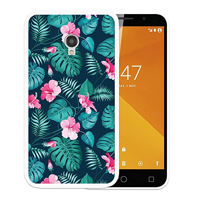 Funda Vodafone Smart Turbo 7, WoowCase [ Vodafone Smart Turbo 7 ] Funda Silicona Gel Flexible Flores Tropicales 2, Carcasa Case TPU Silicona: Amazon.es: ...