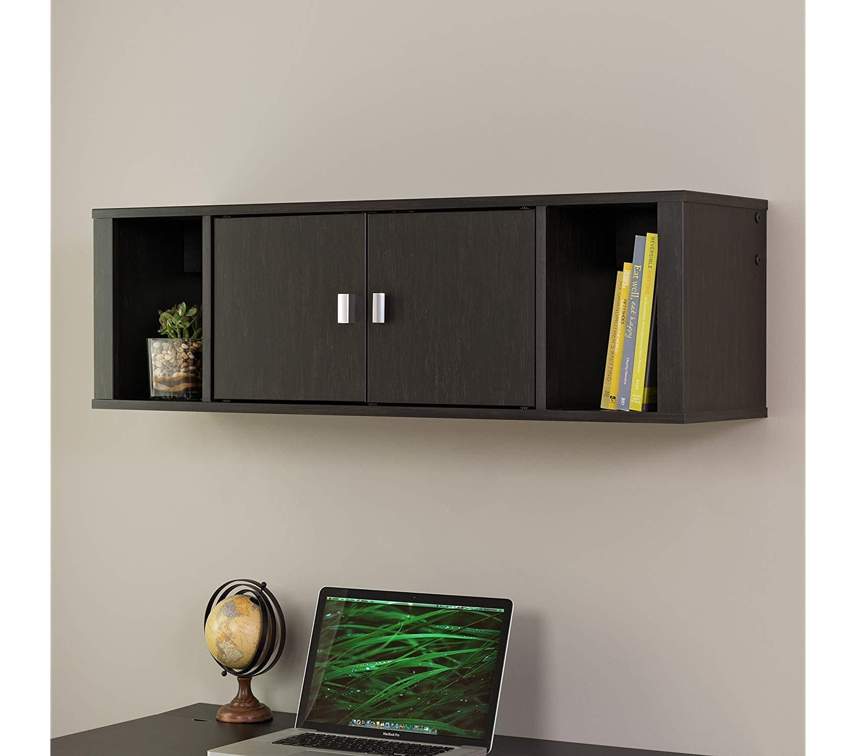 Wood & Style Office Home Furniture Premium Designer Floating Hutch by Wood & Style (Image #5)
