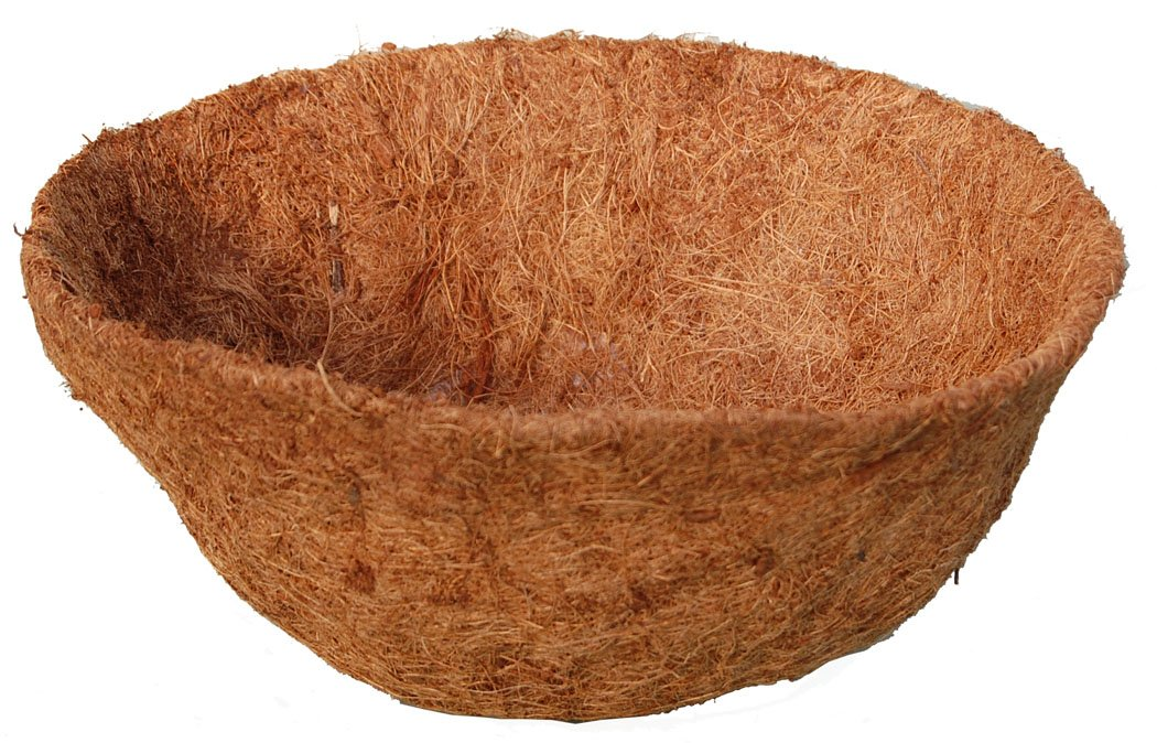 18-inch Hand Formed Hanging Basket Coco Fiber Liner C930L with Water Retainer