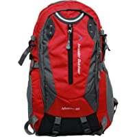 Inlander A2ZIL1015RDRS Polyester Rucksack with Rain Cover, Medium (Red)