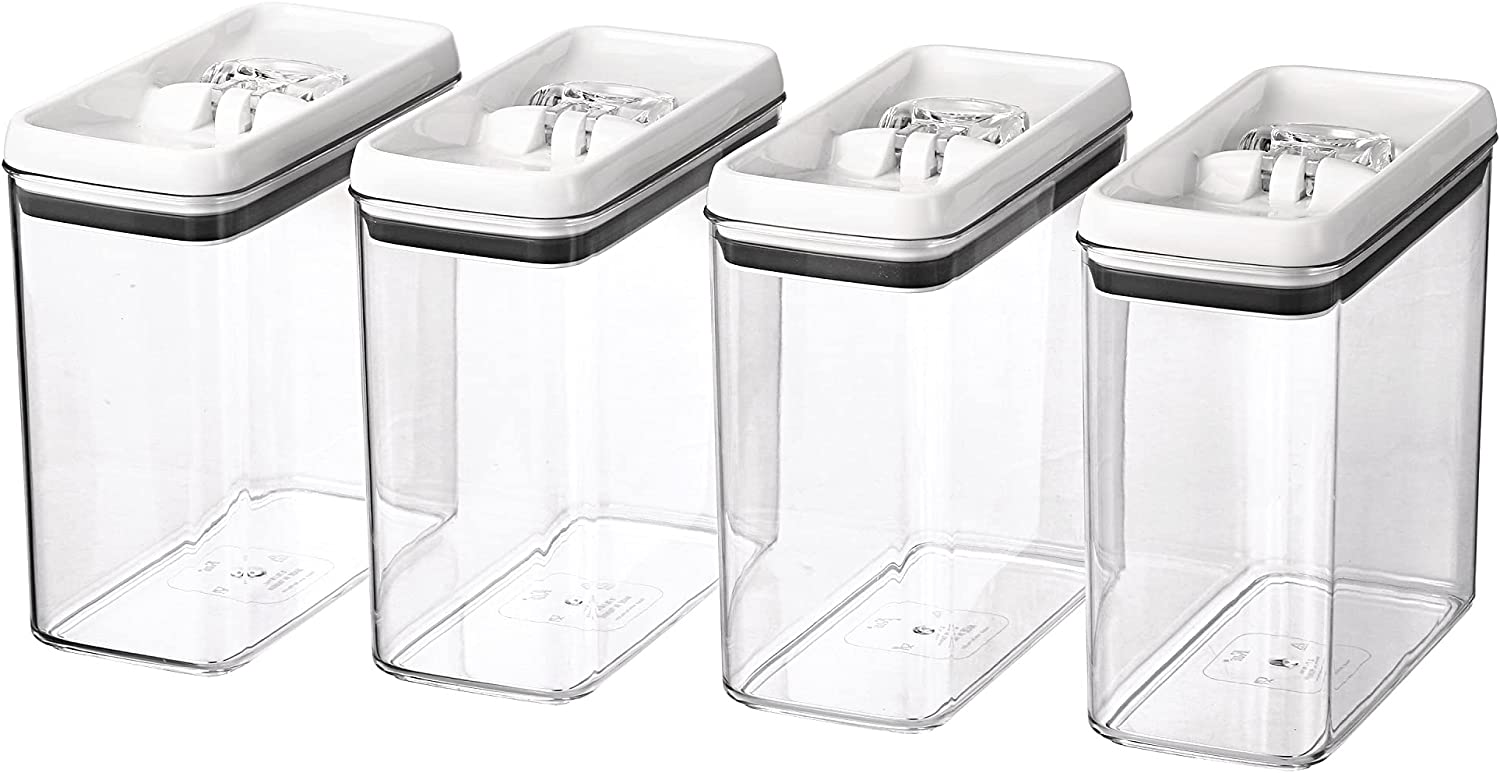 Better Homes & Gardens 4 pack Flip-Tite 11.5-cup Rectangular Food Storage Container