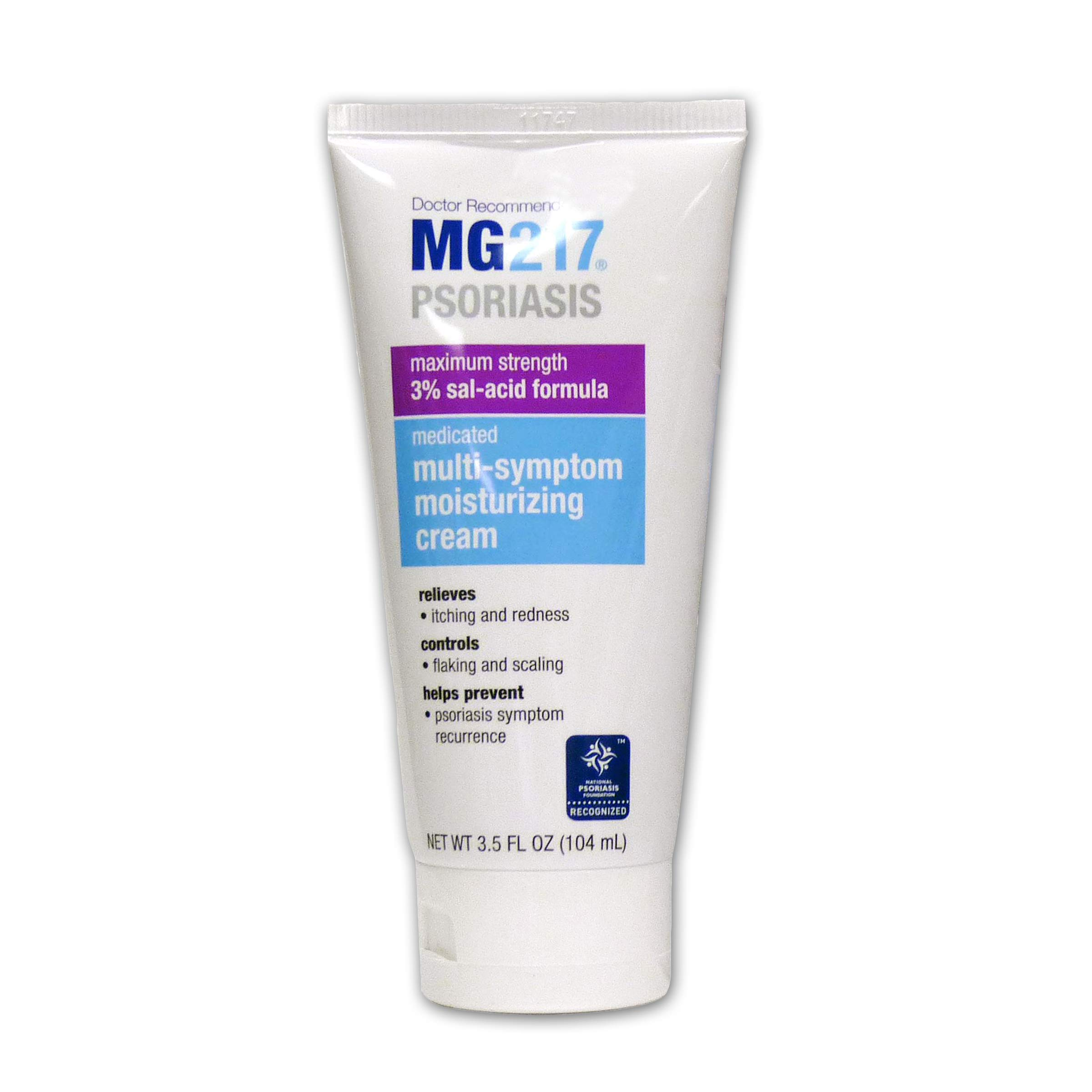 MG217 Medicated Moisturizing Psoriasis Cream With 3% Salicylic Acid - 3.5 oz Tube
