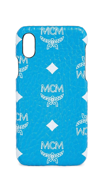 best cheap d4404 ae1ea Amazon.com: MCM White Logo Visetos iPhone X Case, Blue, One Size ...