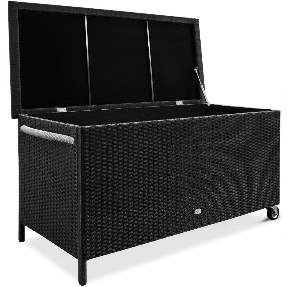 *Deuba Auflagenbox | Poly Rattan | Rostfreies Aluminiumgestell*