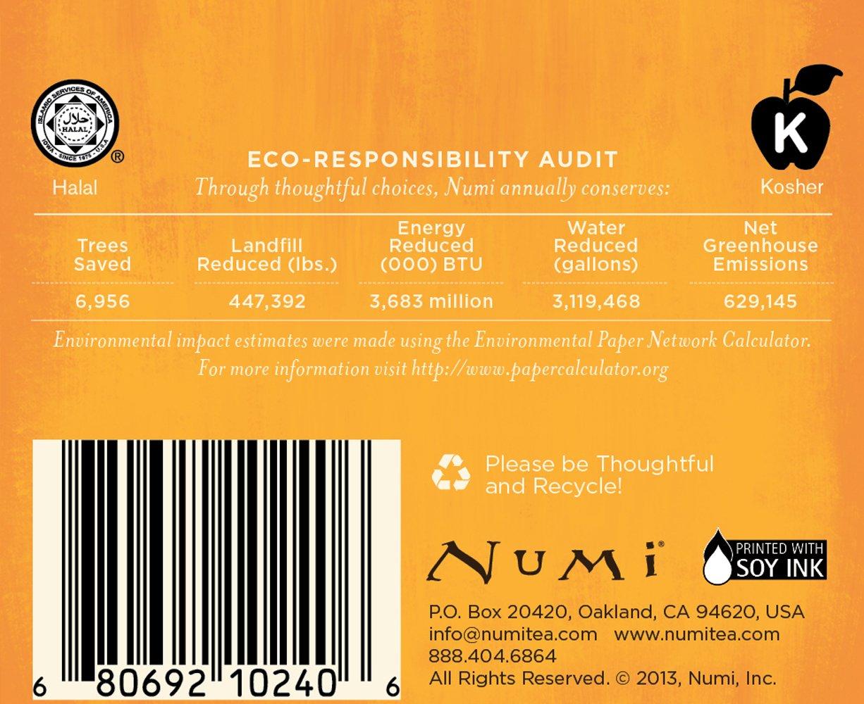 Numi Organic Tea White Orange Spice, Full Leaf White Tea, 16-Count Tea Bags, 1.58 Oz  (Pack of 2) by Numi Organic Tea (Image #6)