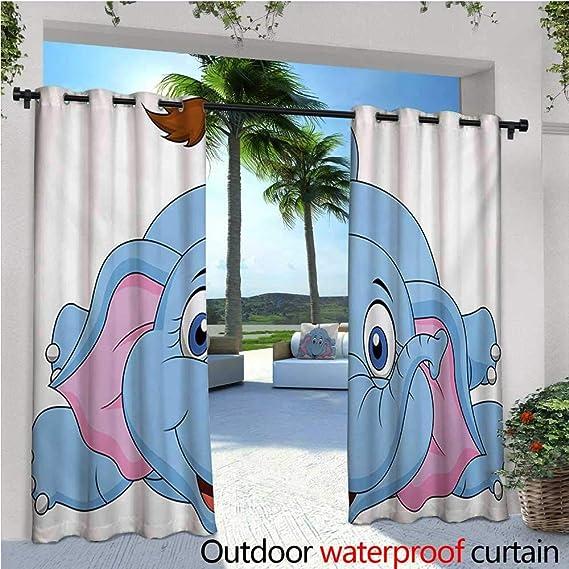 homehot - Cortinas exteriores de dibujos animados con diseño de ...
