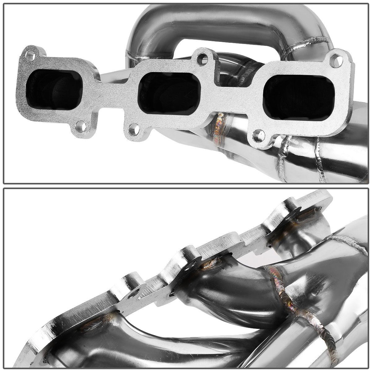 For Ford Mustang 3.7 V6 Stainless Steel Shorty Exhaust Manifold Header