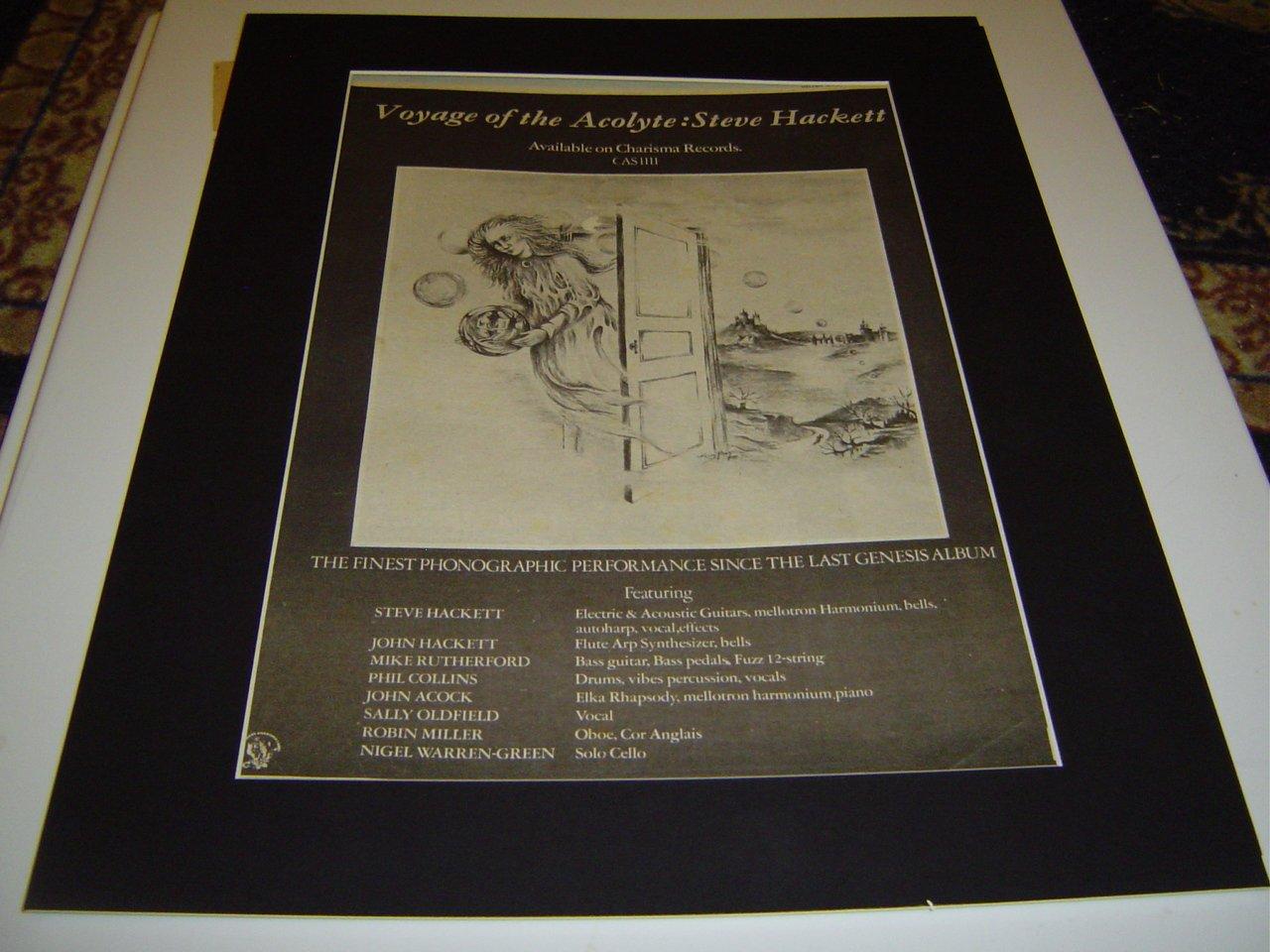 Amazon.de: Steve Hackett Voyage der Akolyth Original Poster Größe ...