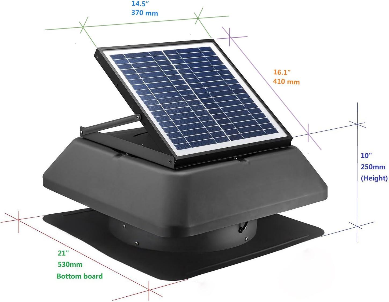 20 W solar desván Ventilador 1520 M3/H superleiser con energía ...