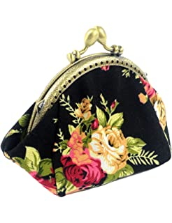 Amazon.com: Generic Mujeres Floral exquisito cierre cartera ...
