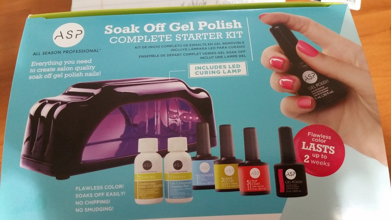 Amazon.com: ASP Soak Off Complete Gel Nail Polish Starter Kit: Beauty