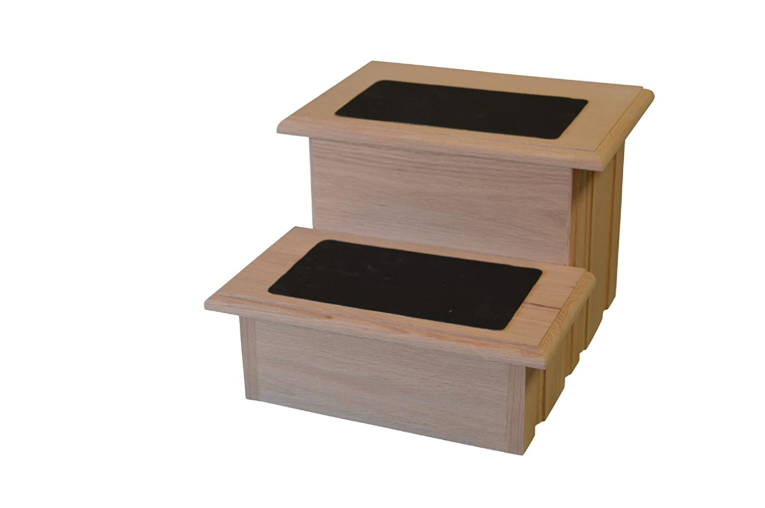 Unfinished Solid Oak Step Stool With Solid Tread with Non Slip Surface Included 11 /½ Tall