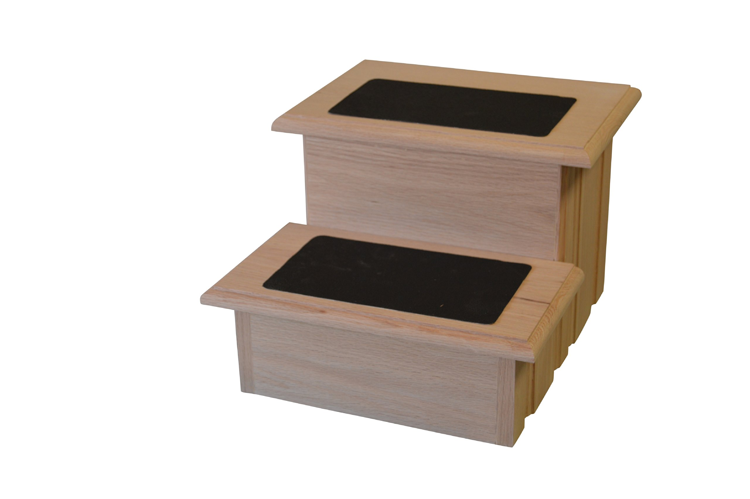 Unfinished Solid Oak Step Stool With Solid Tread with Non Slip Surface Included 11 ½'' Tall