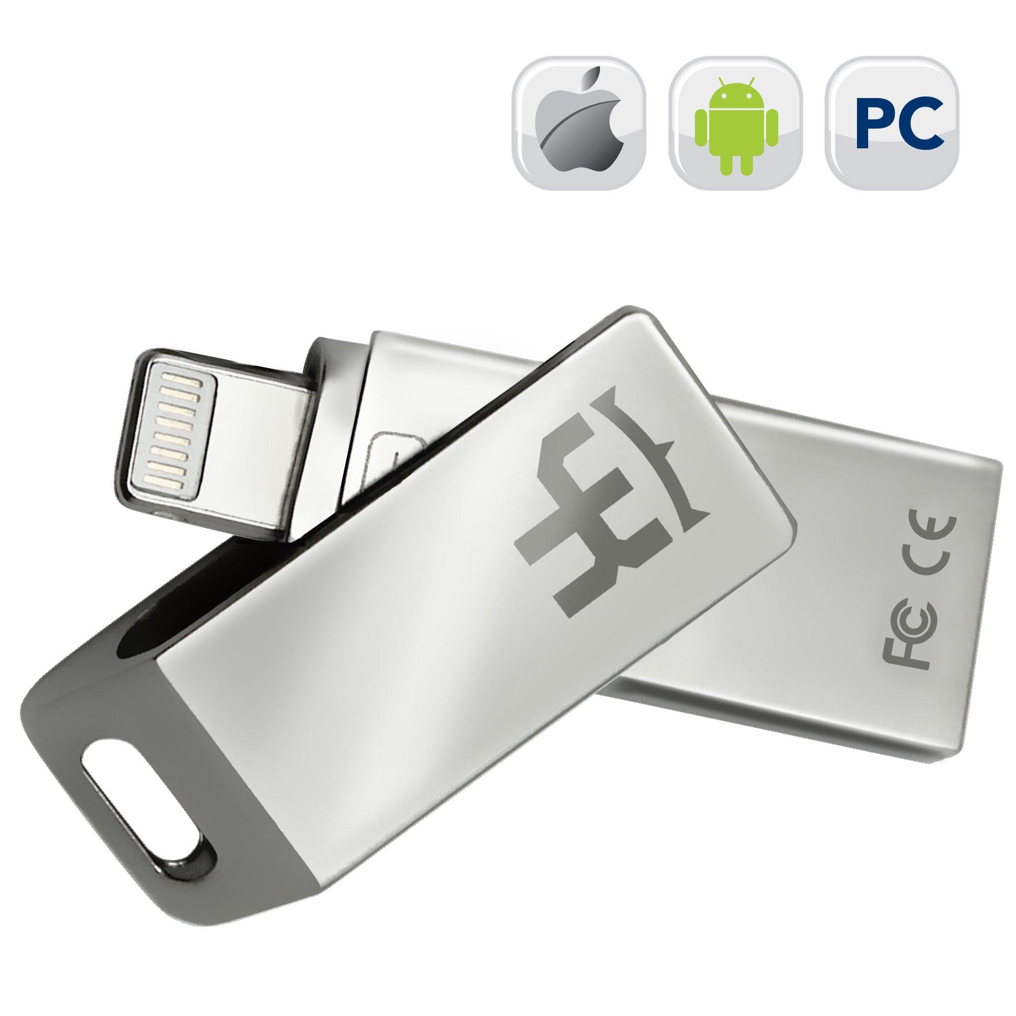 IOS Flash Drive IPhone YKing 3 in 1 - 256Gb - Flash Drive for Android-IPhone Flash Drive-IPad Flash Drive-Micro USB Flash Drive-IPhone USB Flash Drive-IPhone Lightning Flash Drive-Android Flash Drive