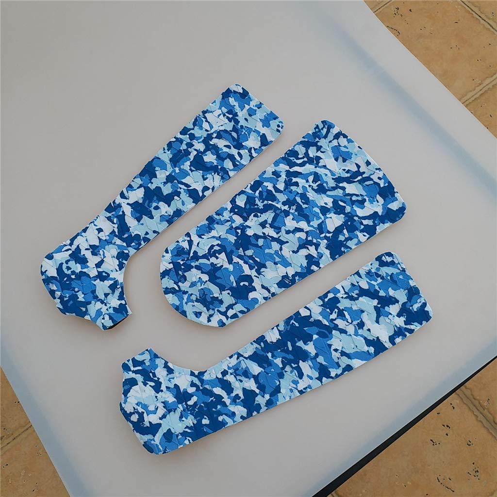 perfeclan 3 Unids Antideslizante Surf Traction Pad Almohadilla de Tracci/ón Tablas de Remo de Pie Color Azul Atractivo para Viaje en Playa