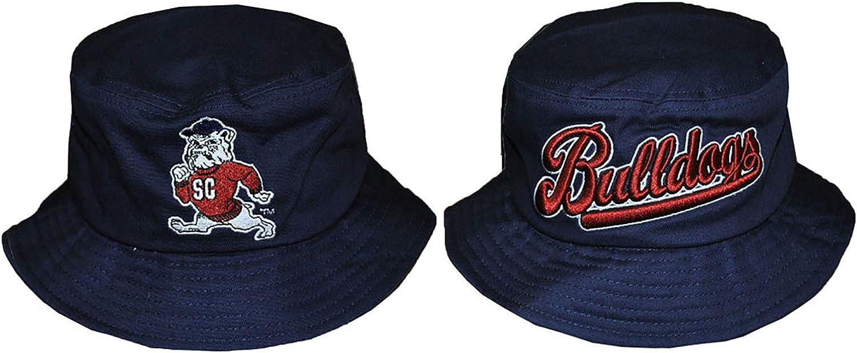 Style 2 Blue South Carolina State University Bucket Hat with Stripe