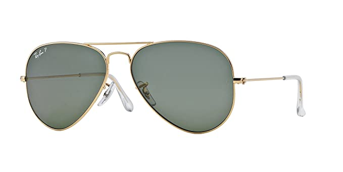 9f3d0bc7238a5 Ray-Ban Original Aviator RB3025 001 58 Polarized Large  Amazon.co.uk   Clothing