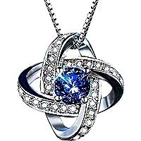 ブルーサファイア ネックレス Belle Jewelry Tokyo 9月誕生石 ゴージャス ベネチアンチェーン ペンダント CZダイヤモンド シルバー925