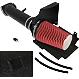 For Escalade Avalanche Suburban Silverado 1500 2500 3500 Sierra Denali Yukon 5.3L 6.0L V8 High Flow Induction Air Intake System+ Heat Shield Black Piping Kit