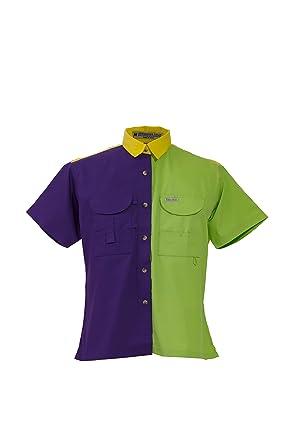 Tiger Hill Mardi Gras Ladies Fishing Shirt Short Sleeves At Amazon