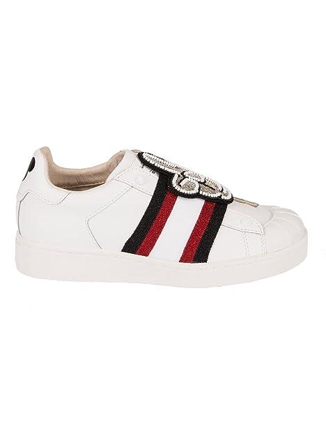 MOA Master of Arts Scarpe Sneakers Donna in Pelle Nuove Mickey Patch Bianco  EU 36 MD157  Amazon.it  Scarpe e borse e33c1aa7651