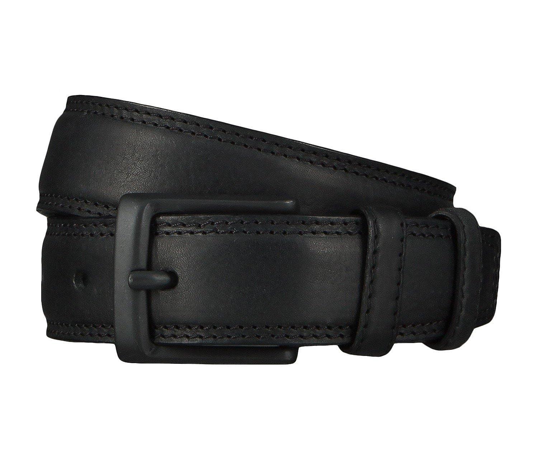 Lee Herren Gürtel Stitched Raised Belt Black