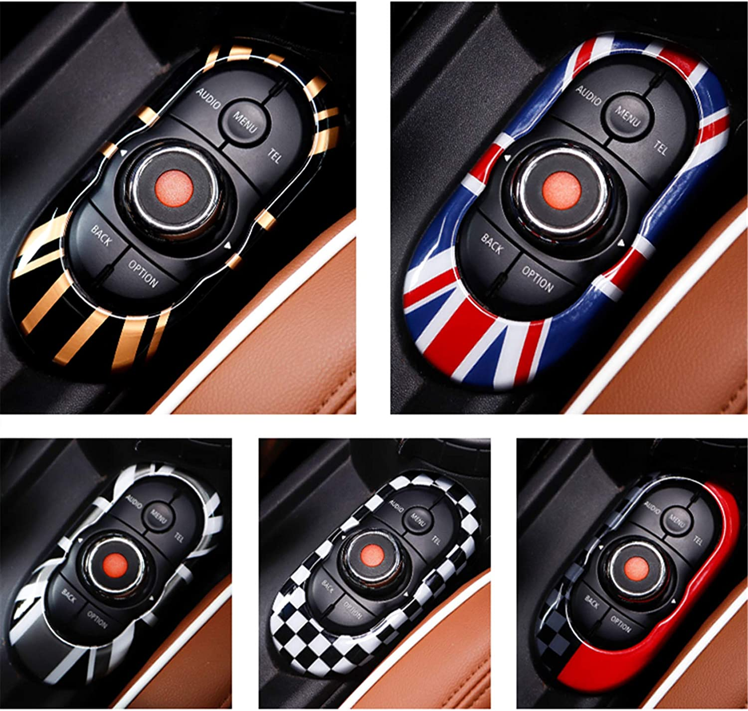 Side Wing Mirror Cap Without Light Hole Black White Check Flag Checkered ABS Sticker Cover Trim Cap for Mini Cooper ONE S JCW F Series F55 Hardtop F56 Hatchback F57 Covertible 2016+