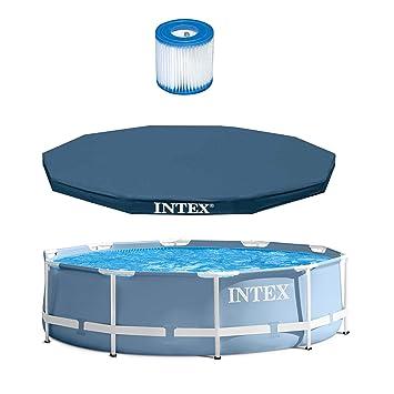 Amazoncom Intex 10 X 30 Prism Frame Pool 10 Debris Cover
