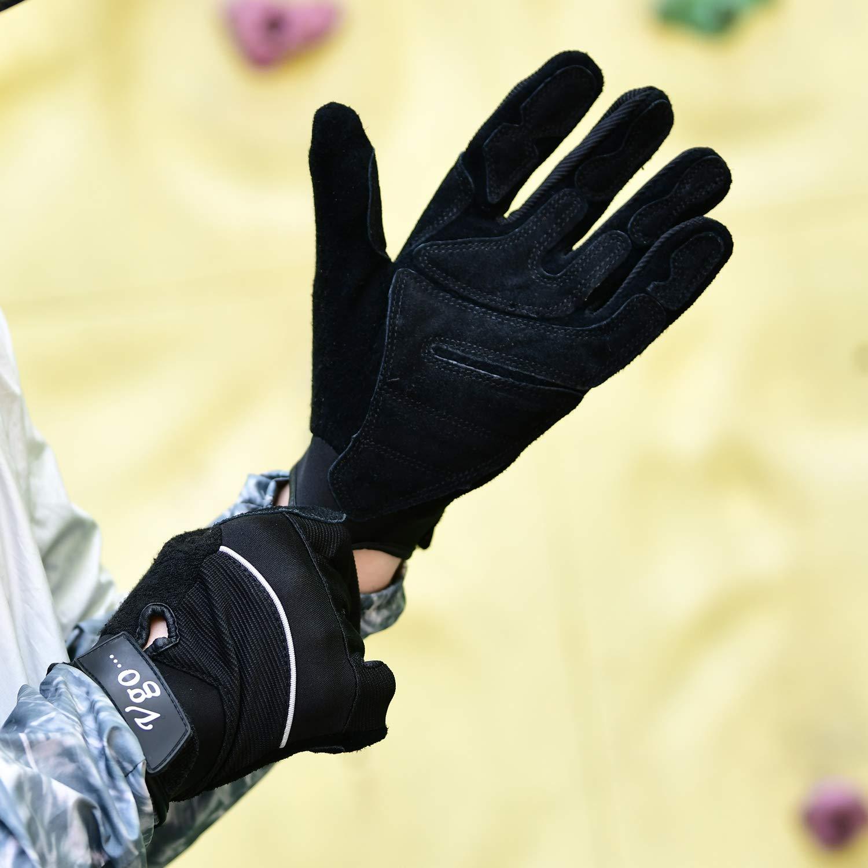 Guantes de Exterior Almacenamiento Herramientas de Mano 3Pares,Talla 8//M,Negro, PS7687 Rancho Vgo 3Pares de Construcci/ón de Cuero de cerdo para Log/ística