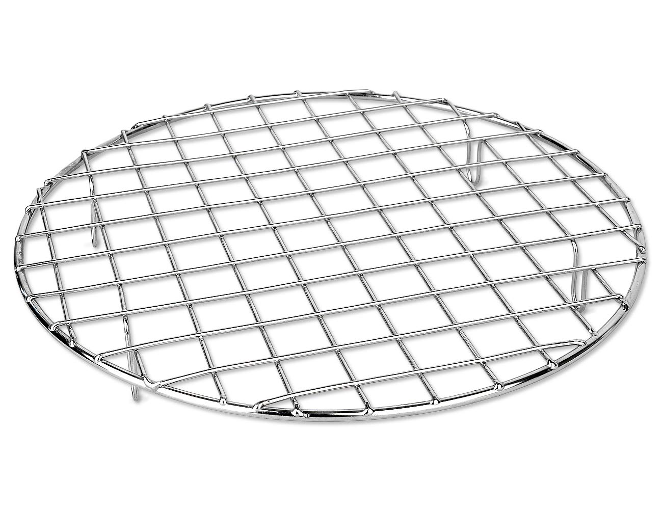 Bafvt BBQ Accessories Grill Rack - 304 Stainless Steel Baking Cooking Round Rack for Rib Cookie Cakes, 10 inches