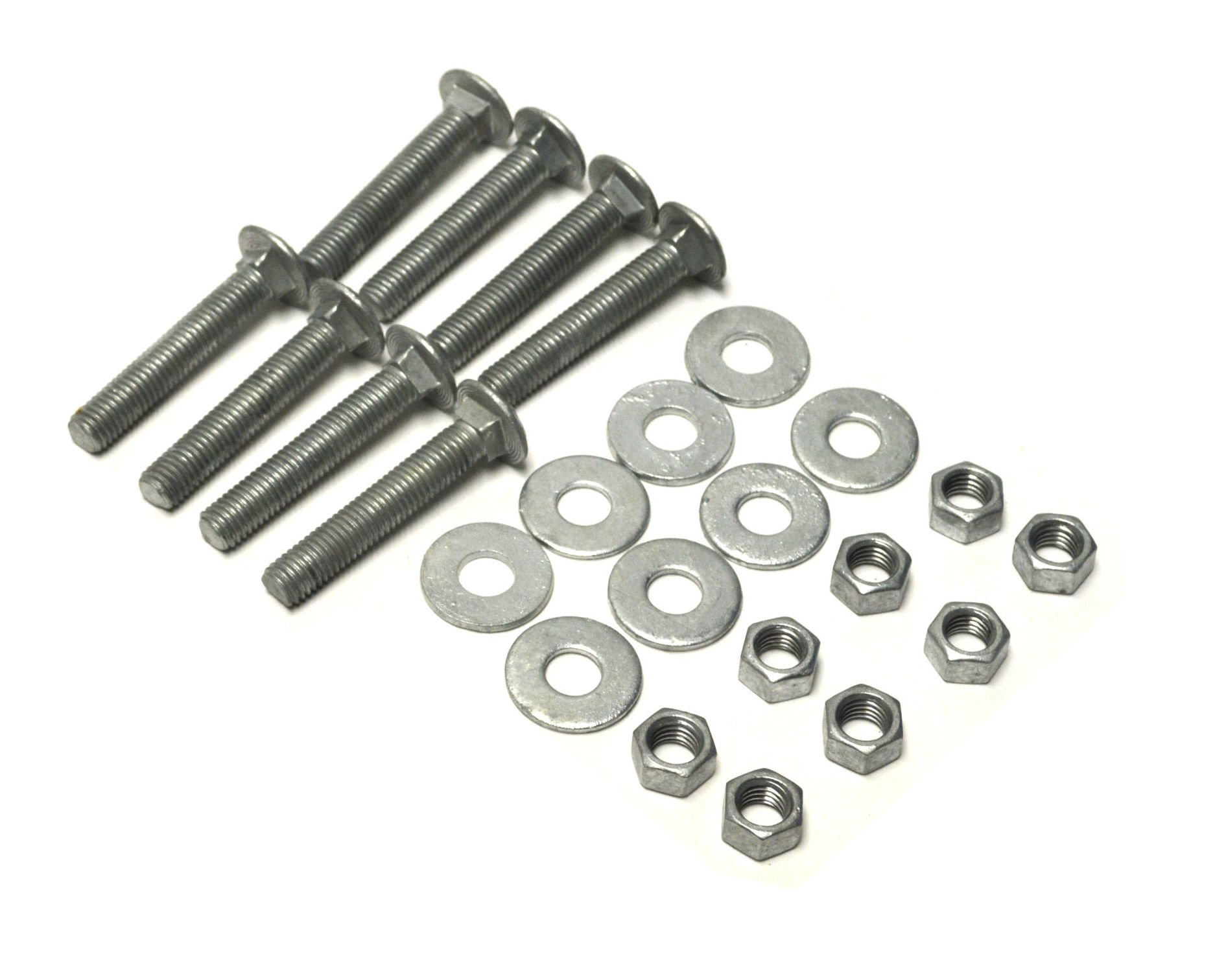 Dock Hardware 1/2'' x 3'' Galvanized Carriage Bolt Set (Pack of 8)
